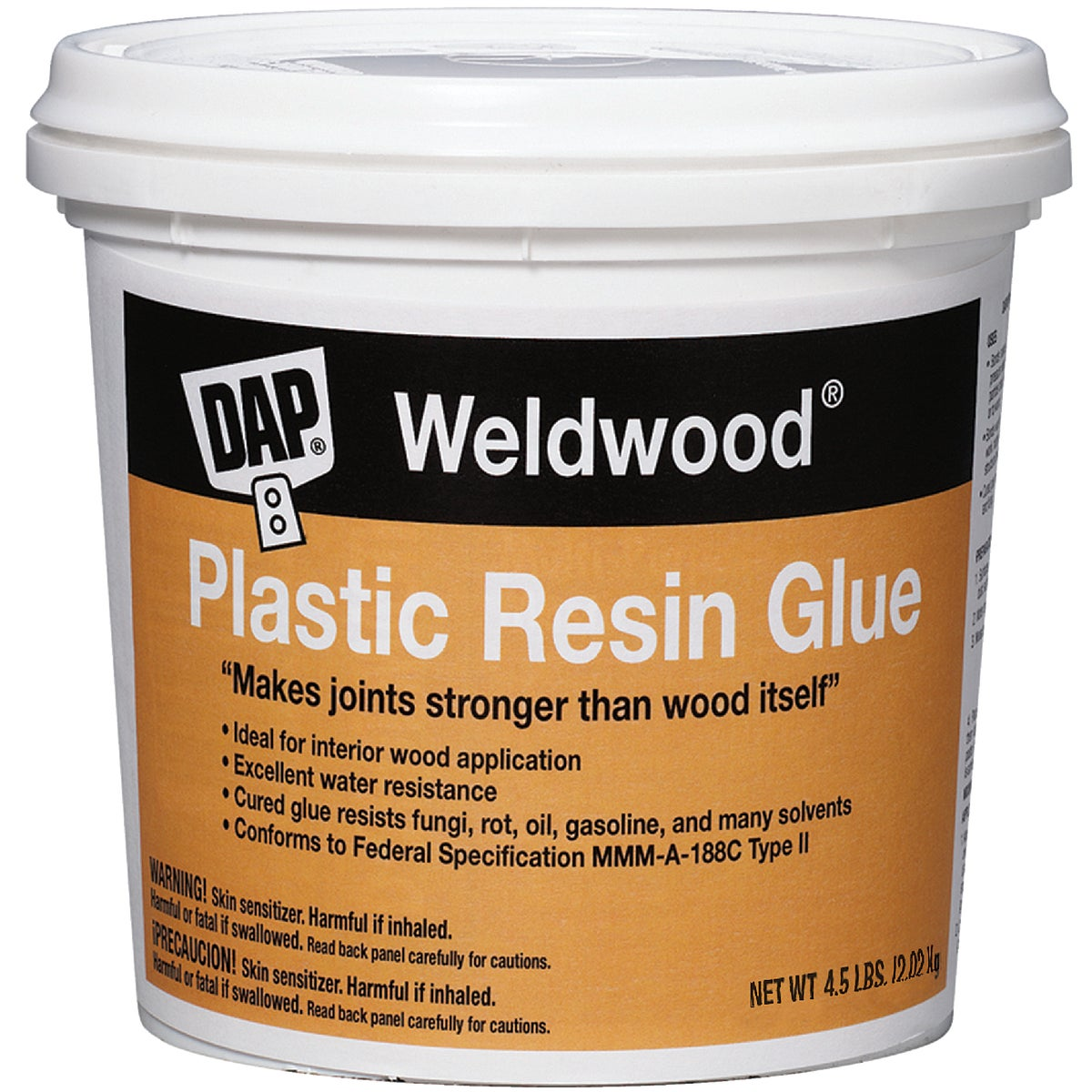 4-1/2LB PLST RESIN GLUE - 00204 by Dap Inc