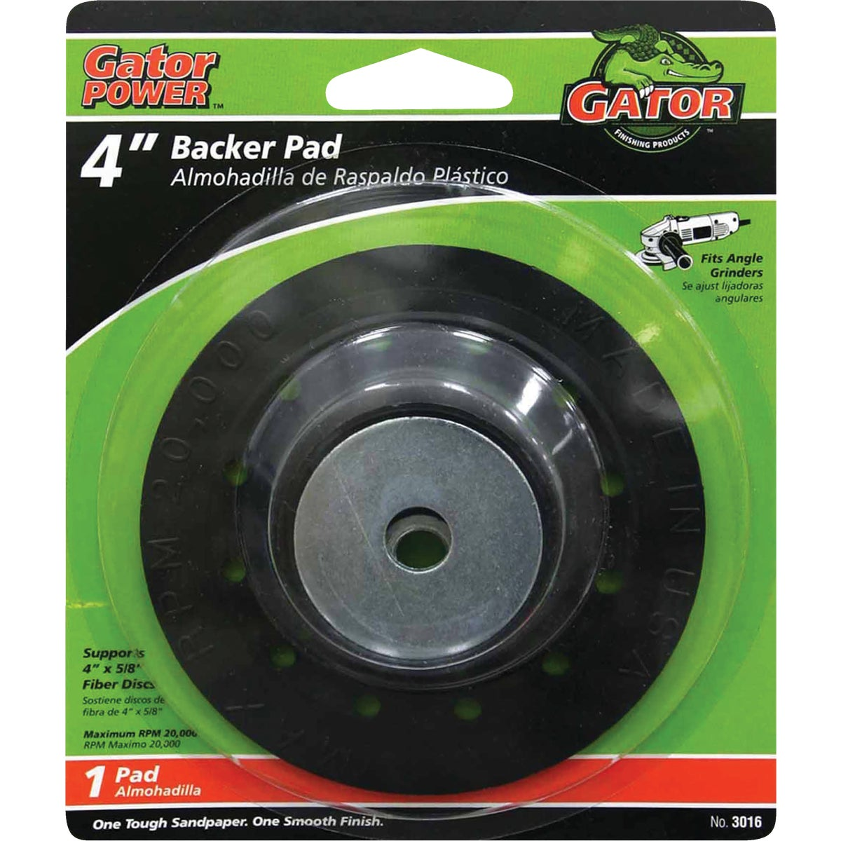 "4"" BACKING PAD - 3016 by Ali Industries Inc"
