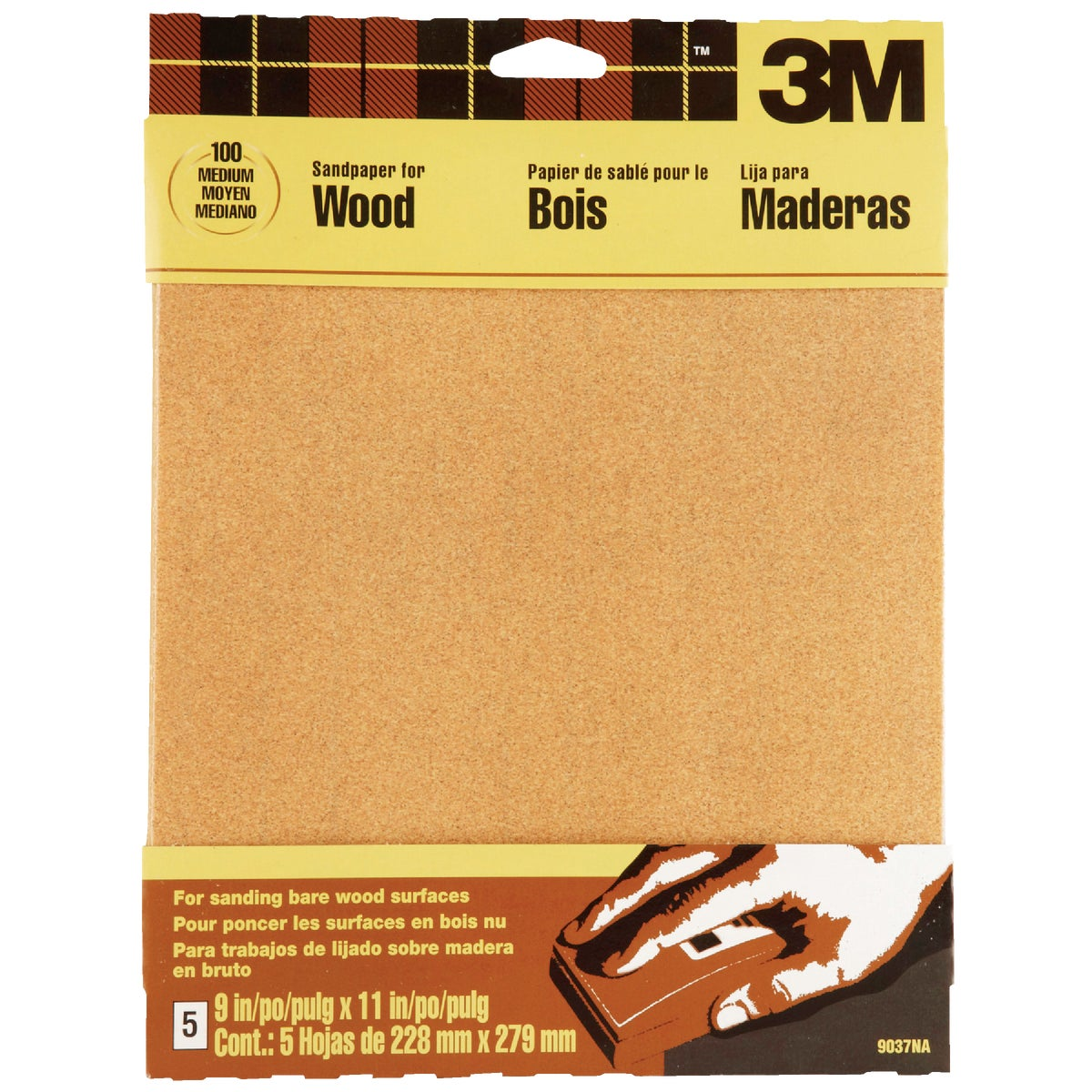 MEDIUM GARNET SANDPAPER - 9037 by 3m Co