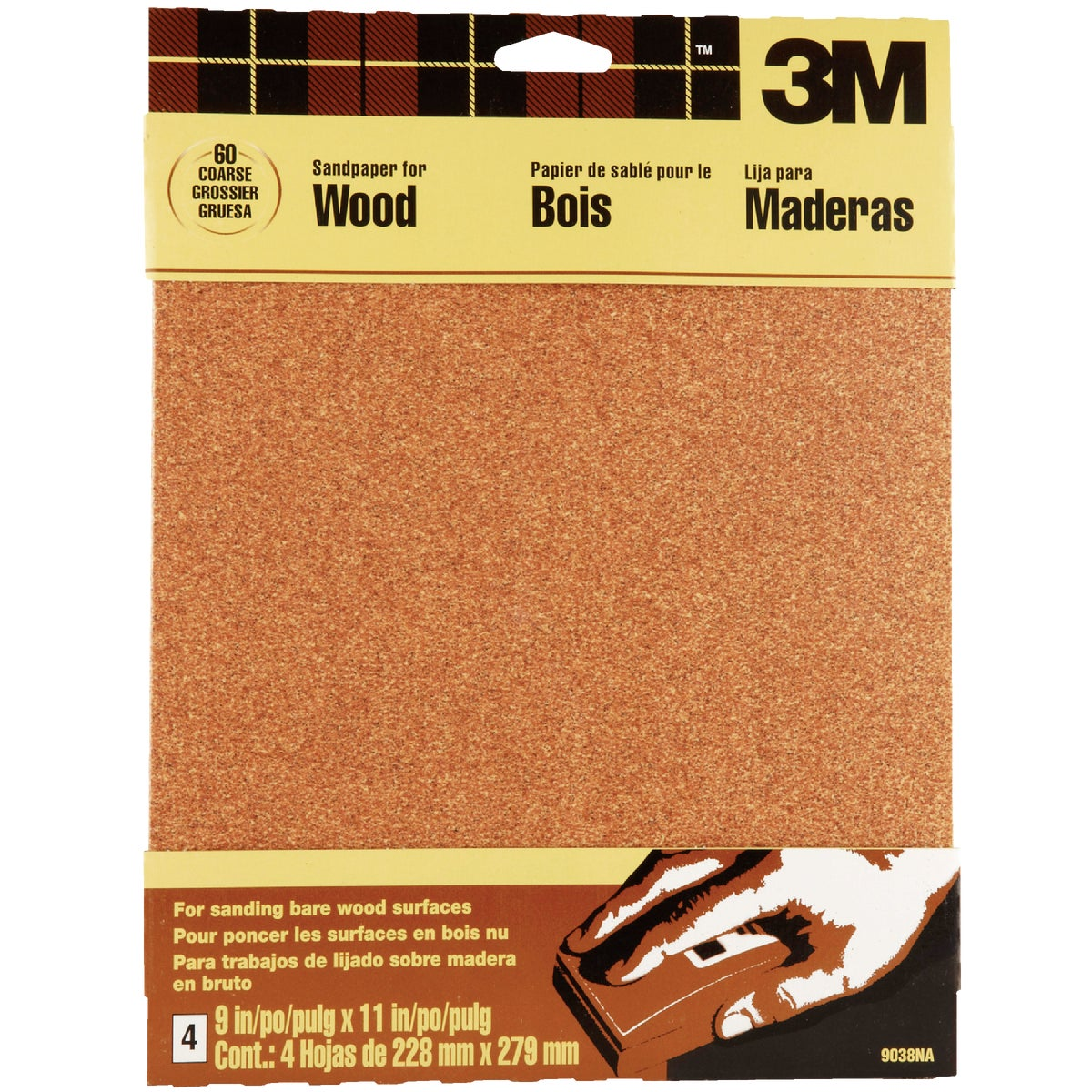 COARSE GARNET SANDPAPER - 9038 by 3m Co