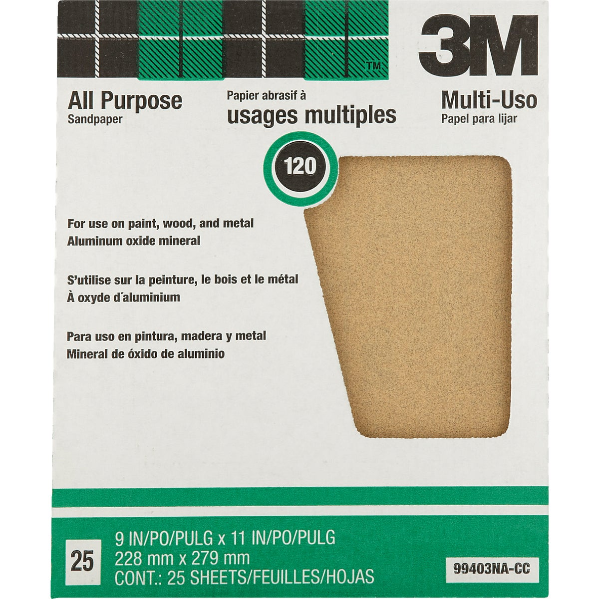 120C PRODUCTIN SANDPAPER - 99403NA by 3m Co