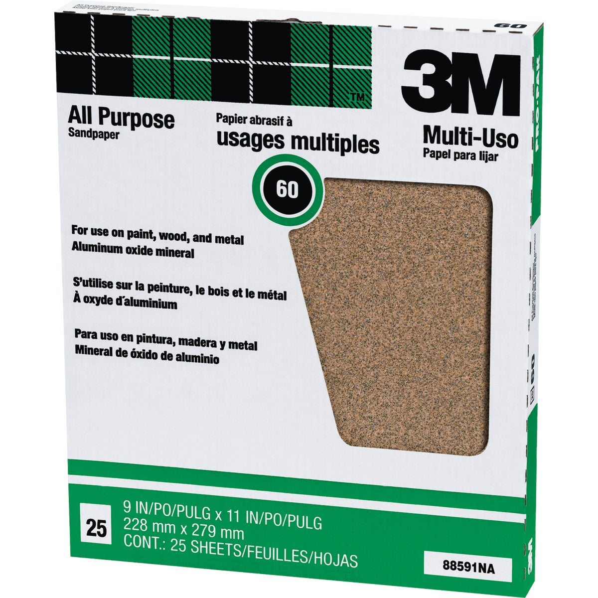 60D PRODUCTION SANDPAPER - 88591NA by 3m Co