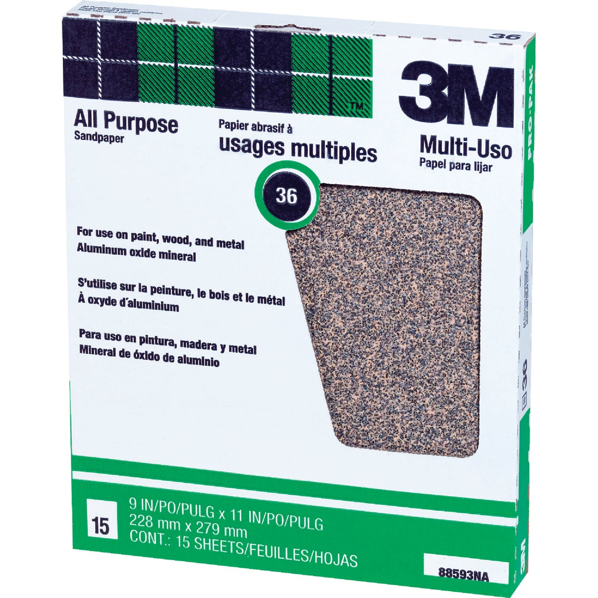 36D PRODUCTION SANDPAPER - 88593NA by 3m Co