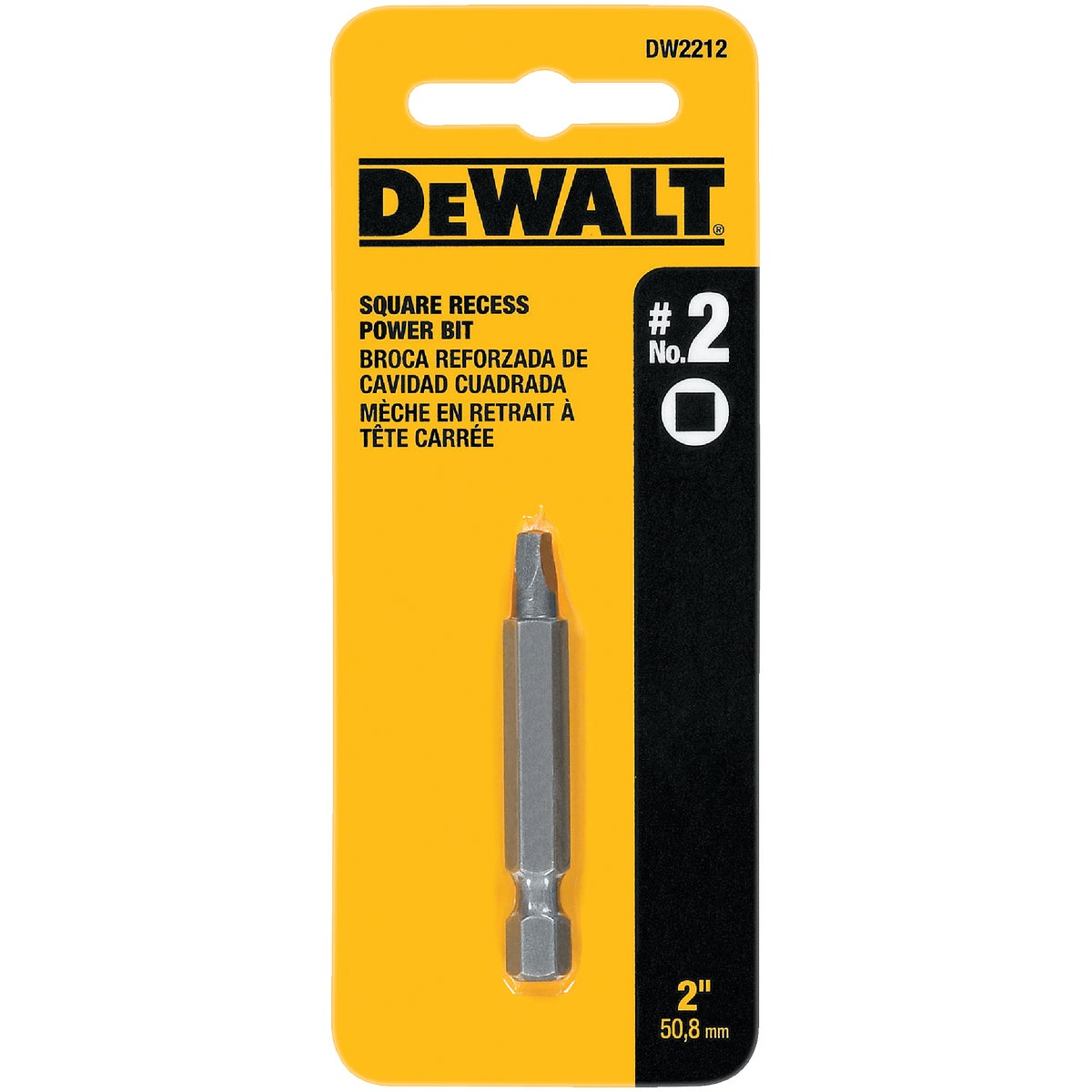 "#2 2"" SQUARE RECESS BIT - DW2212 by DeWalt"