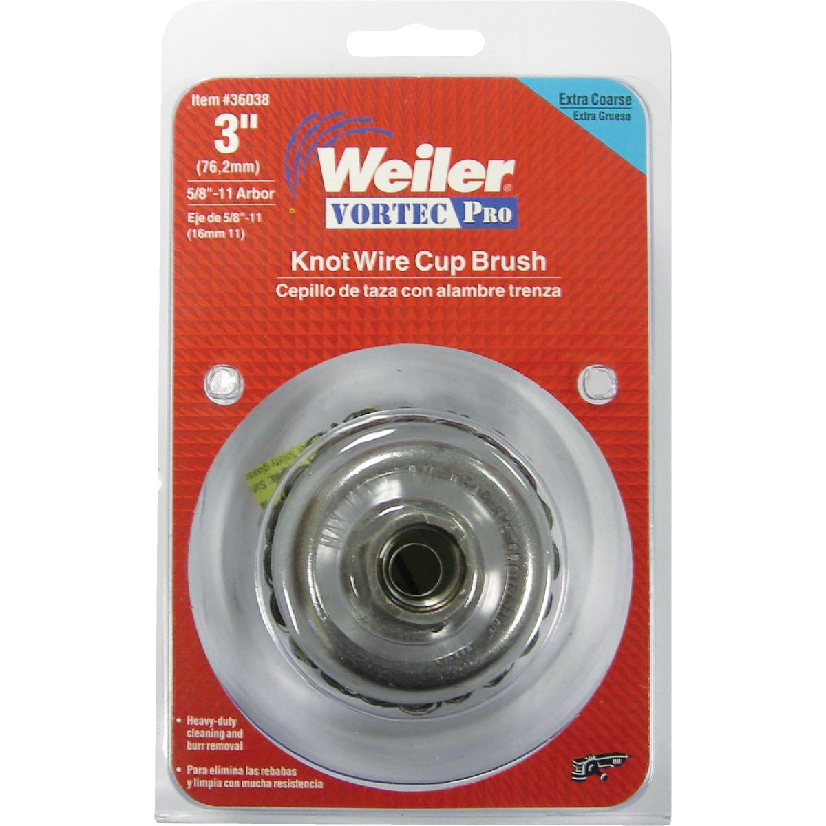 "3"" WIRE CUP BRUSH - 36038 by Weiler Corporation"