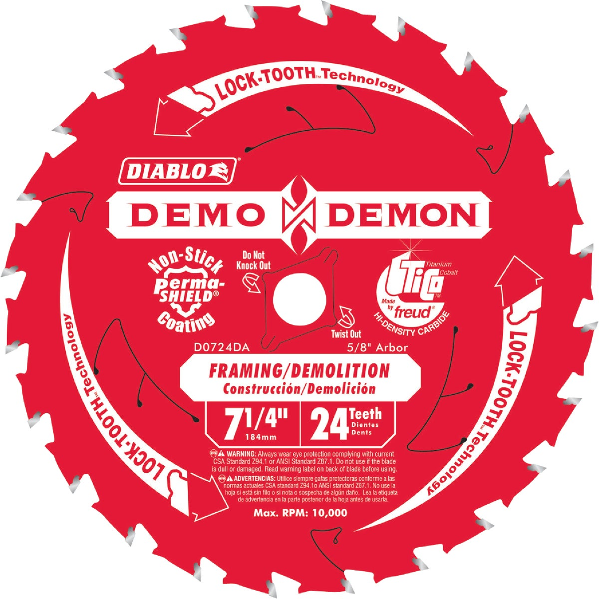 "7-1/4""X24T DEM DEM BLADE - D0724DA by Freud Inc"