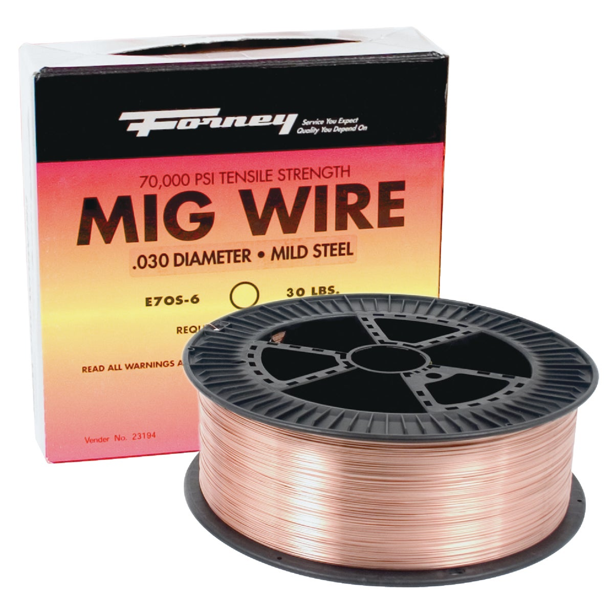 30LB .035 E70S6 MIG WIRE - 42281 by Forney Industries