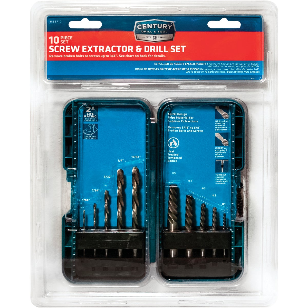 6PC SCREW EXTRACTOR SET - 53700 by Irwin Industr Tool