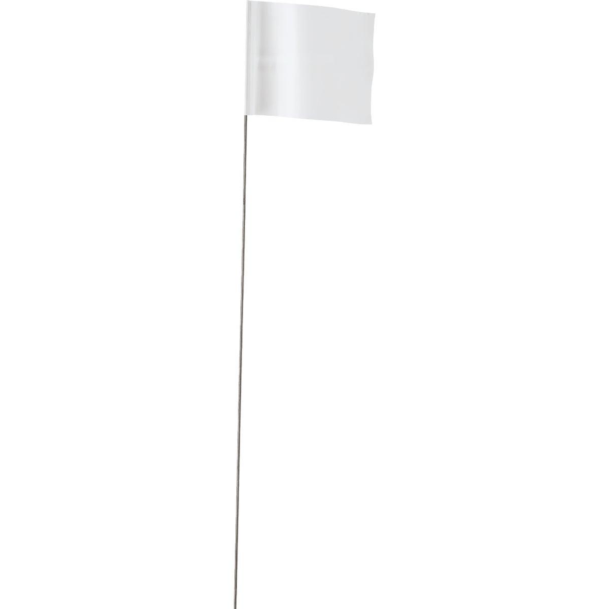100PK WHITE FLAGS