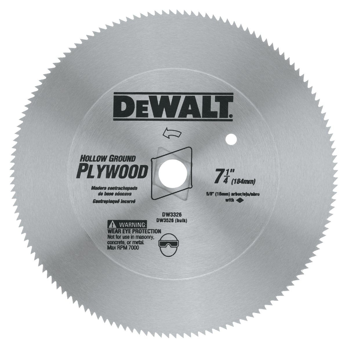 "7-1/4"" 140T STEEL BLADE - DW3526 by DeWalt"