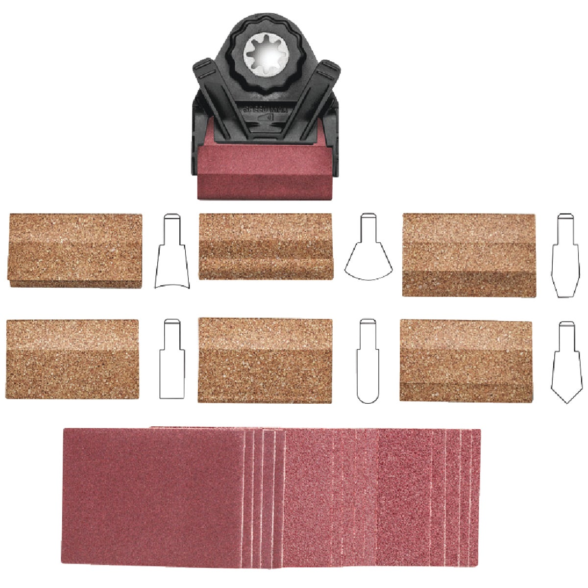 PROFILE SANDING KIT - 63806183013 by Fein Power Tools