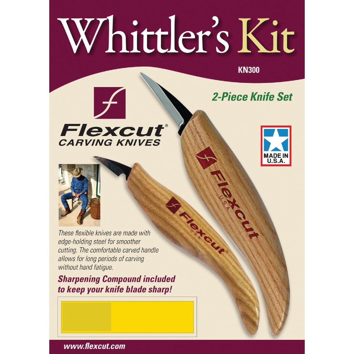 WHITTLER'S KIT - KN300 by Flexcut Tool Co