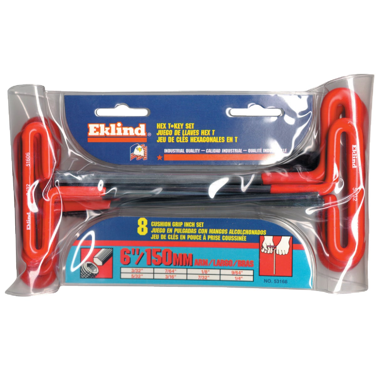 "6"" T-HANDLE HEX KEY - 53168 by Eklind"