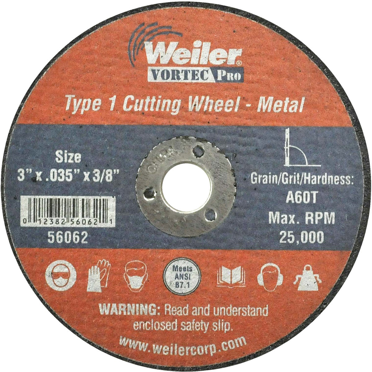 3X1/32 ABRASIVE WHEEL - 36536 by Weiler Corporation