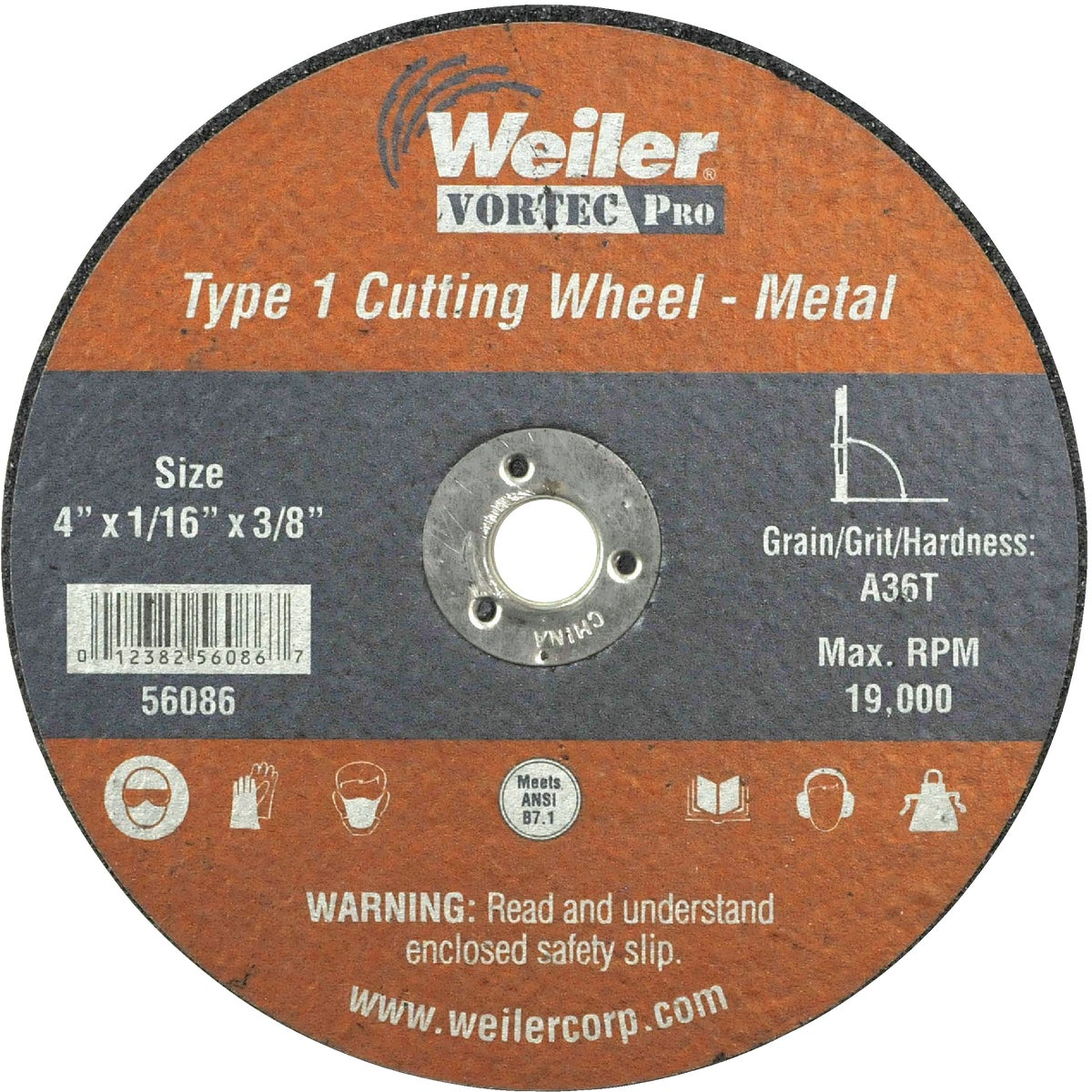 4X1/16 ABRASIVE WHEEL - 36540 by Weiler Corporation