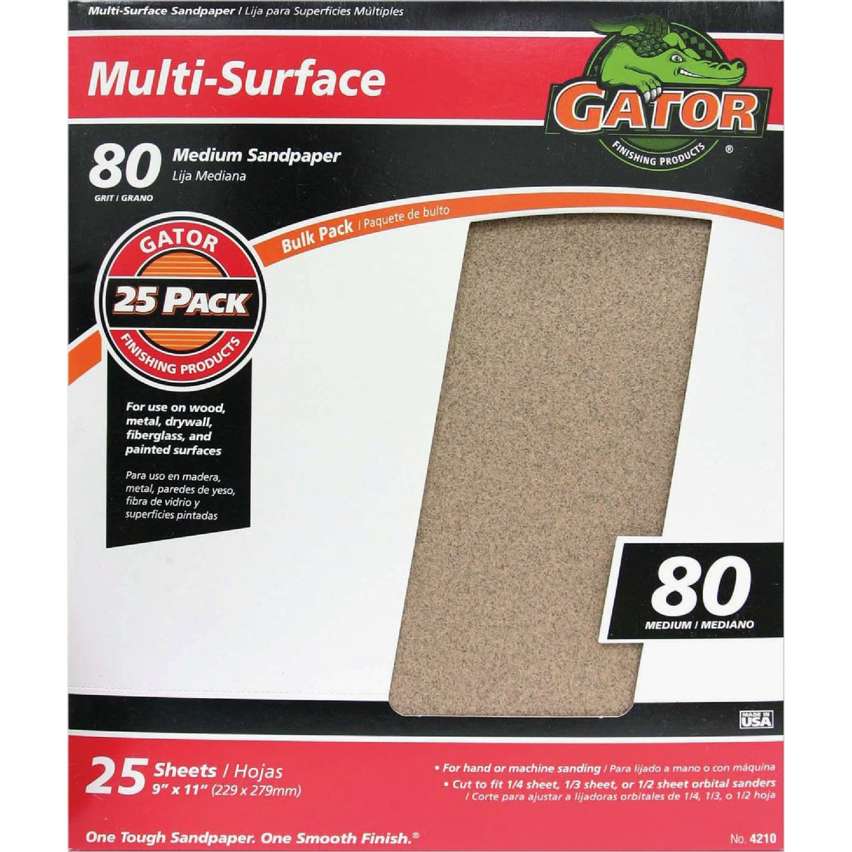 80C A/O SANDPAPER - 4210 by Ali Industries Inc