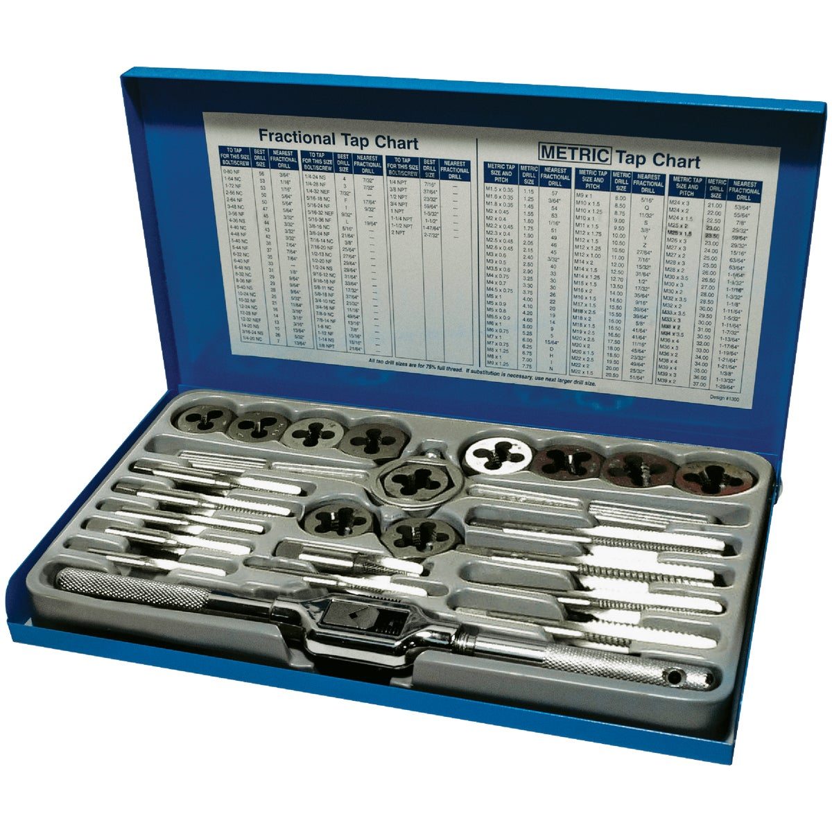 24PC TAP & DIE - 24614 by Irwin Industr Tool