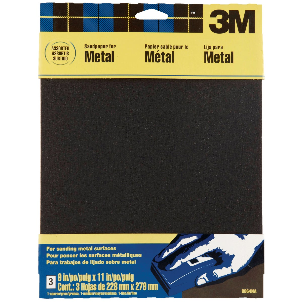3M 9X11 ASTD EMERY CLOTH 9064