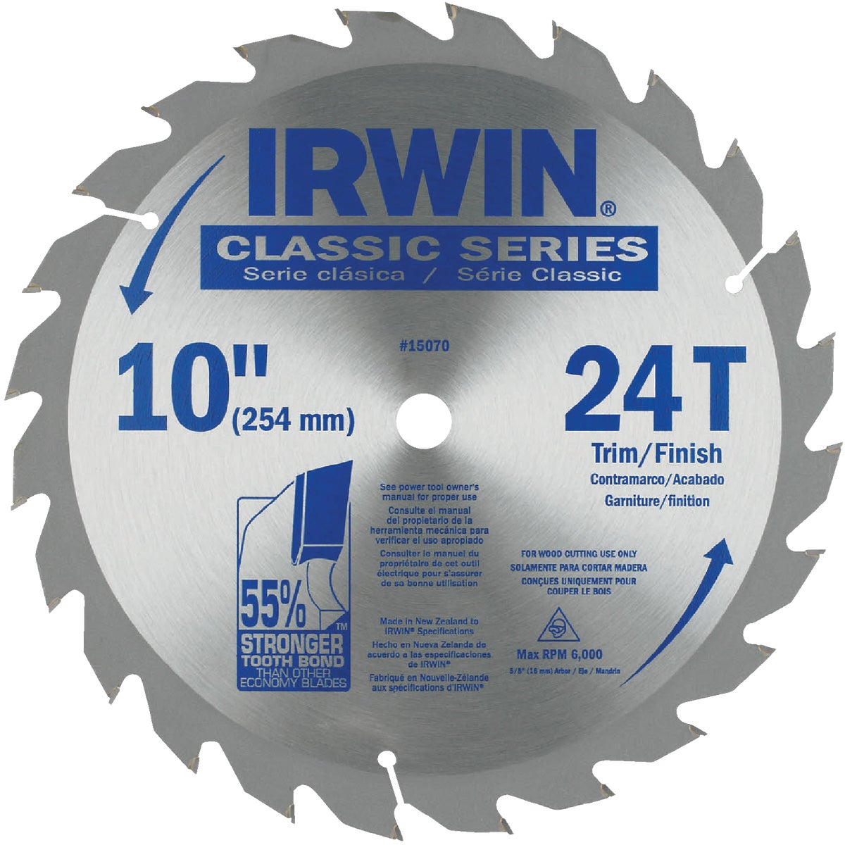 "10"" CARBIDE TIPPED BLADE - 15070 by Irwin Industr Tool"