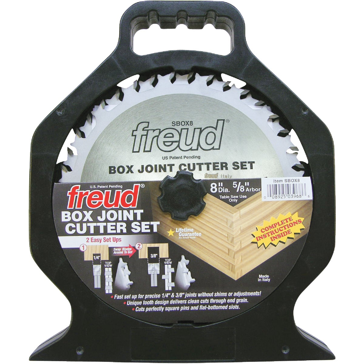 "8"" BOX JOINT CUTTER - SBOX8 by Freud Inc"