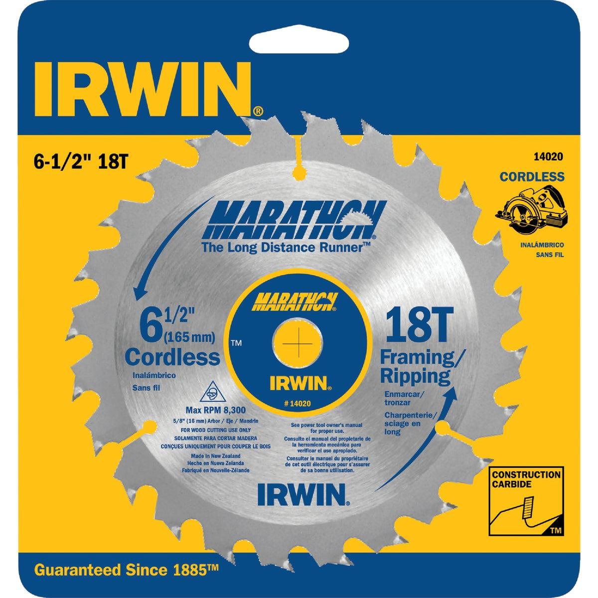 "6-1/2""18T MARATHON BLADE - 14020 by Irwin Industr Tool"