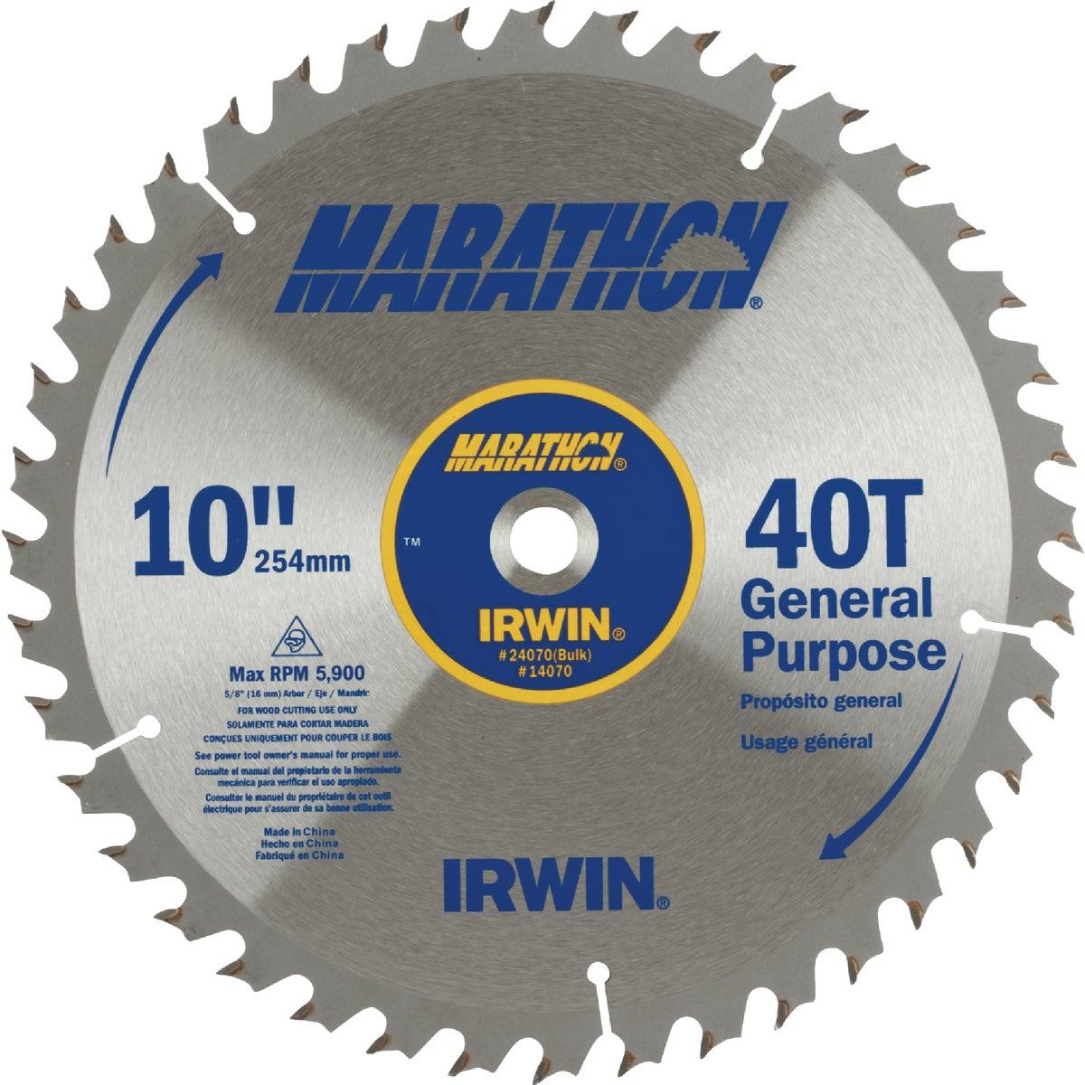 "10"" 40T MARATHON BLADE - 14070 by Irwin Industr Tool"