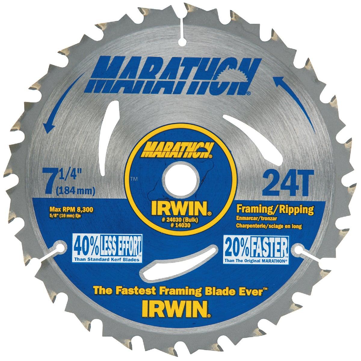 "7-1/4""24T MARATHON BLADE - 24030 by Irwin Industr Tool"