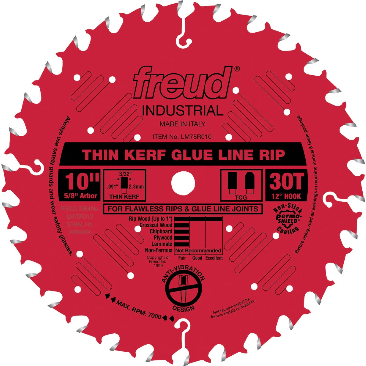 "10""X30T GLU LN RIP BLADE - LM75R010 by Freud Inc"