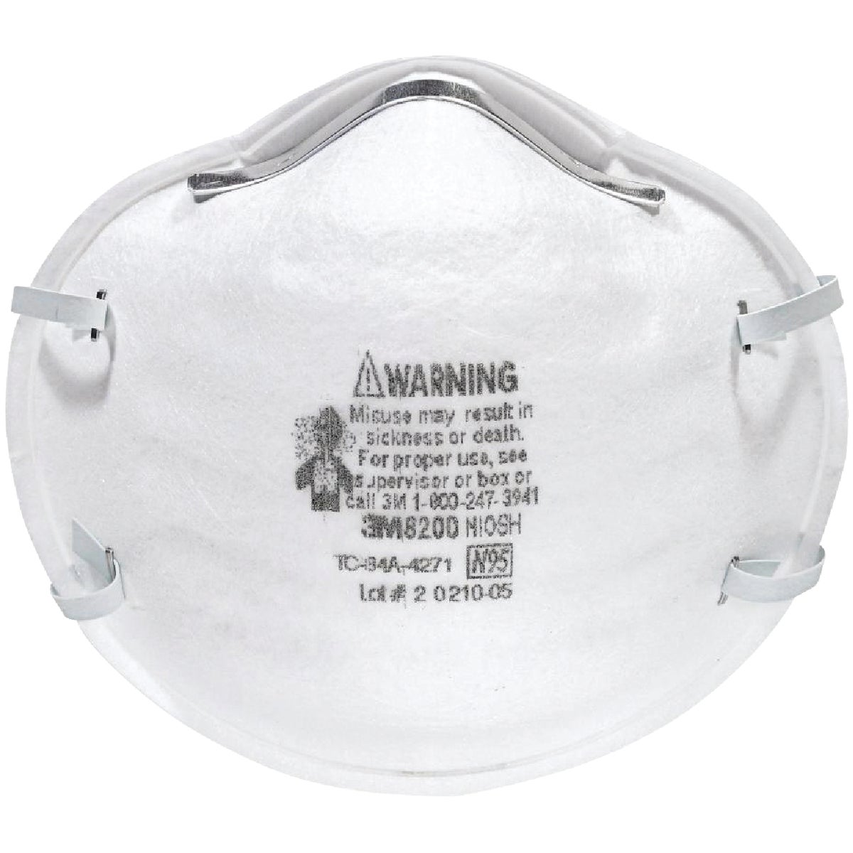 10PK PARTICLE RESPIRATOR - 8200HB5-A by 3m Co