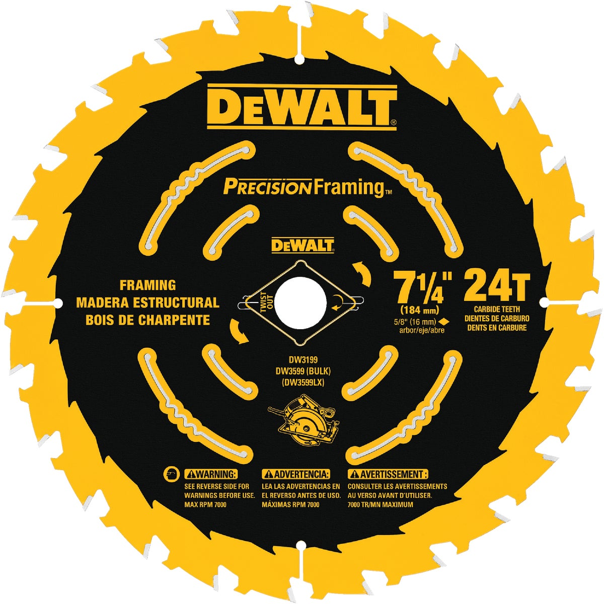 "7-1/4"" ULTRA THIN BLADE - DW3599B10 by DeWalt"