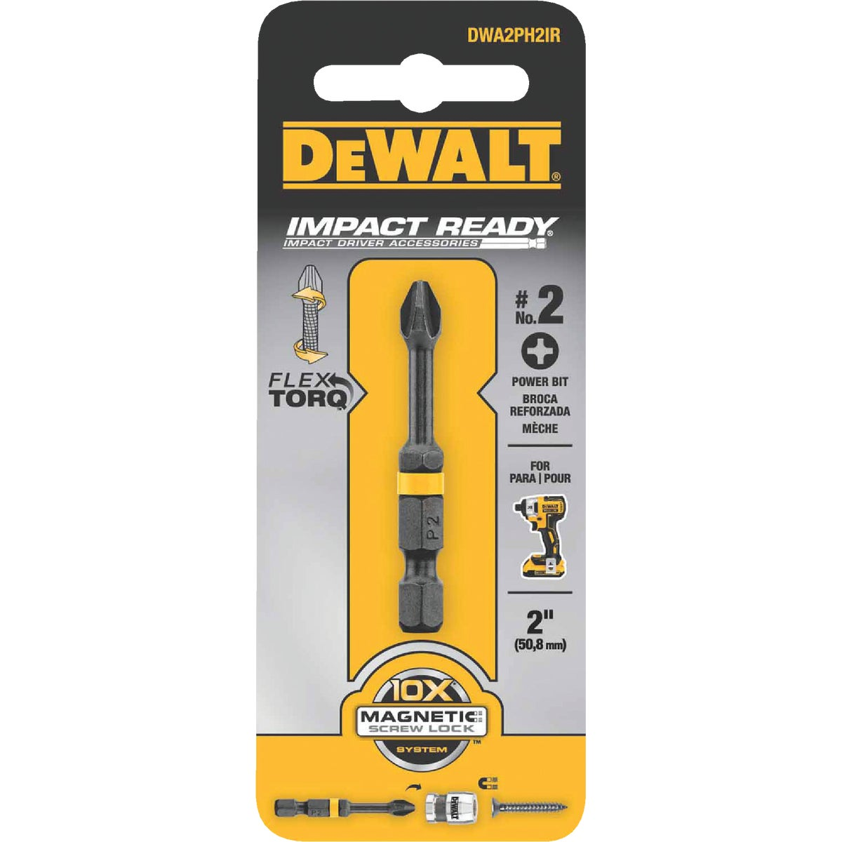 "#2 2"" PHILLIPS IR BIT - DW2022IR by DeWalt"