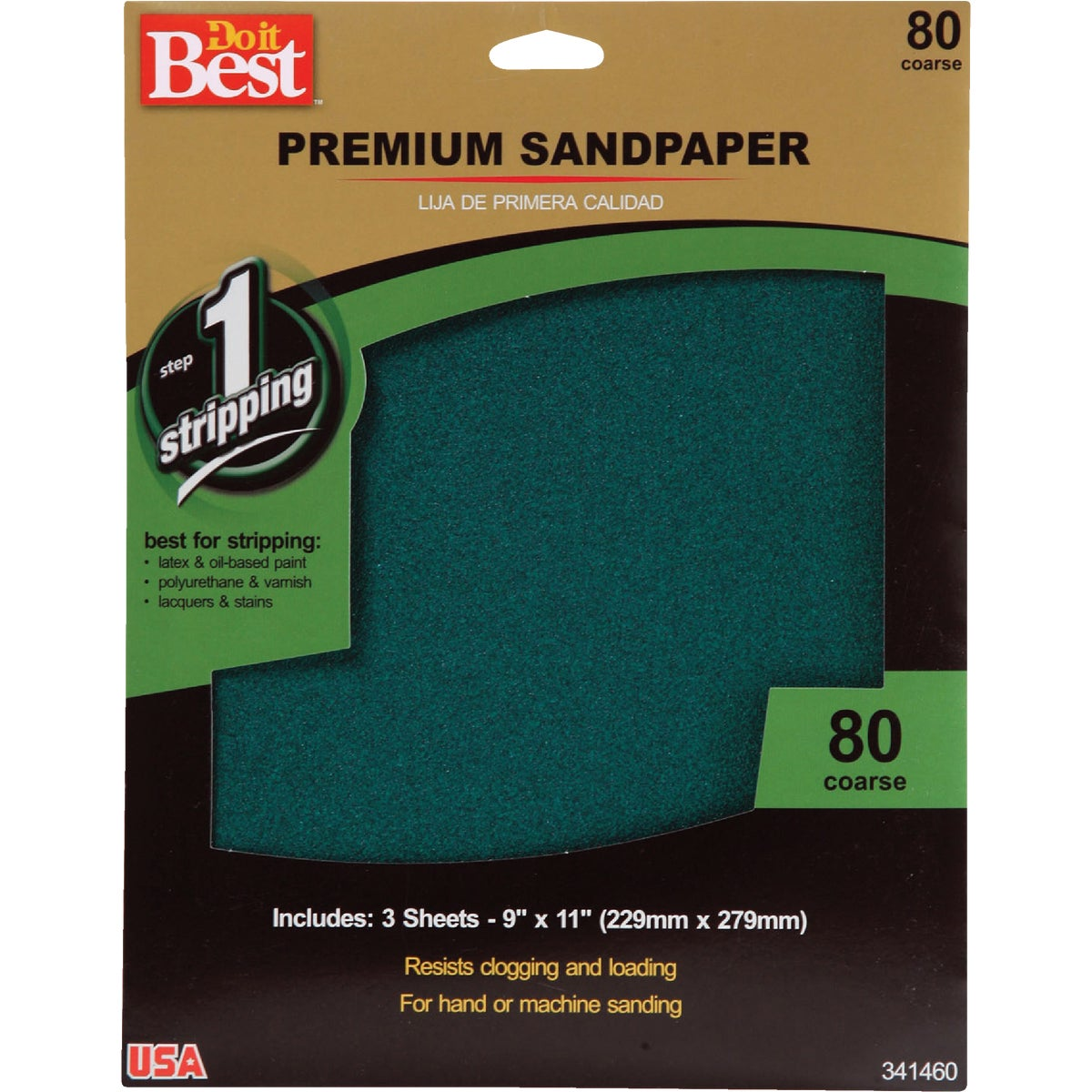 80G PREMIUM SANDPAPER - 341460 by Ali Industries Inc
