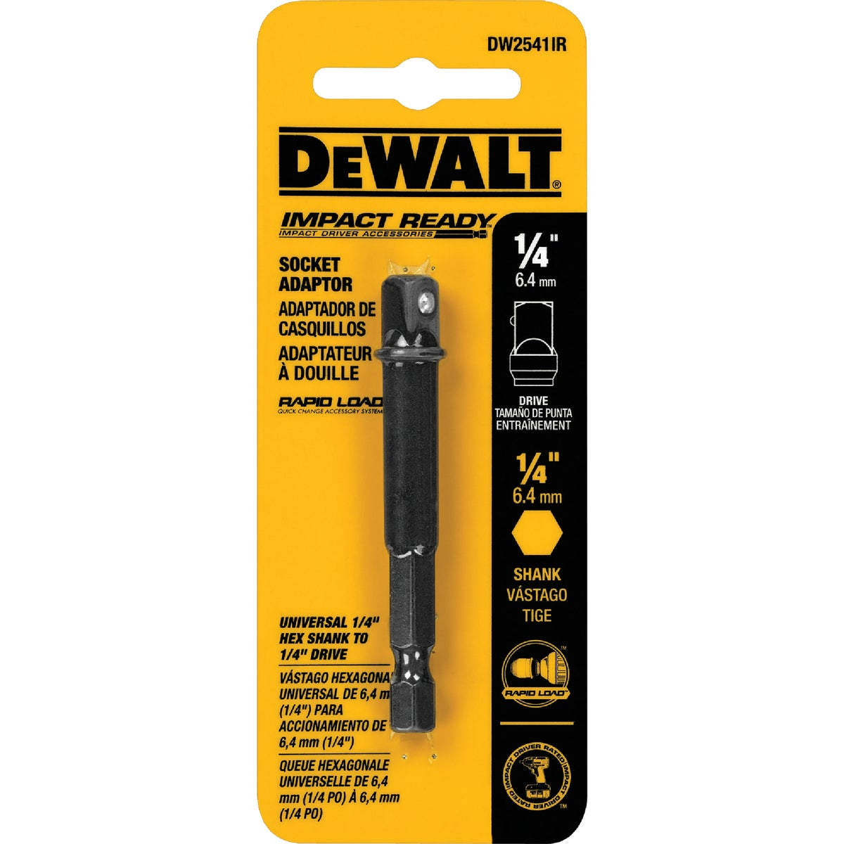 "1/4"" IR SOCKET ADAPTER - DW2541IR by DeWalt"