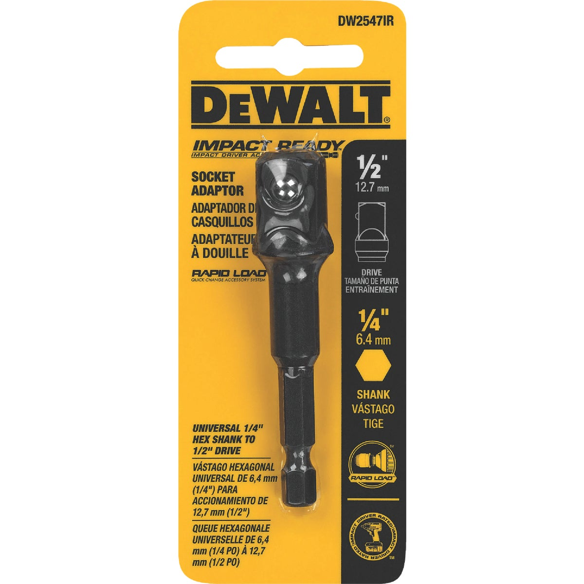"1/2"" IR SOCKET ADAPTER - DW2547IR by DeWalt"