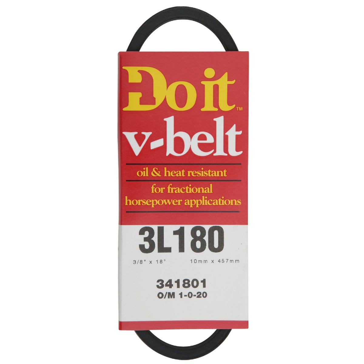 18X3/8 A PULLEY V-BELT - 3L180 by Gates Rubber Pvt Lbl