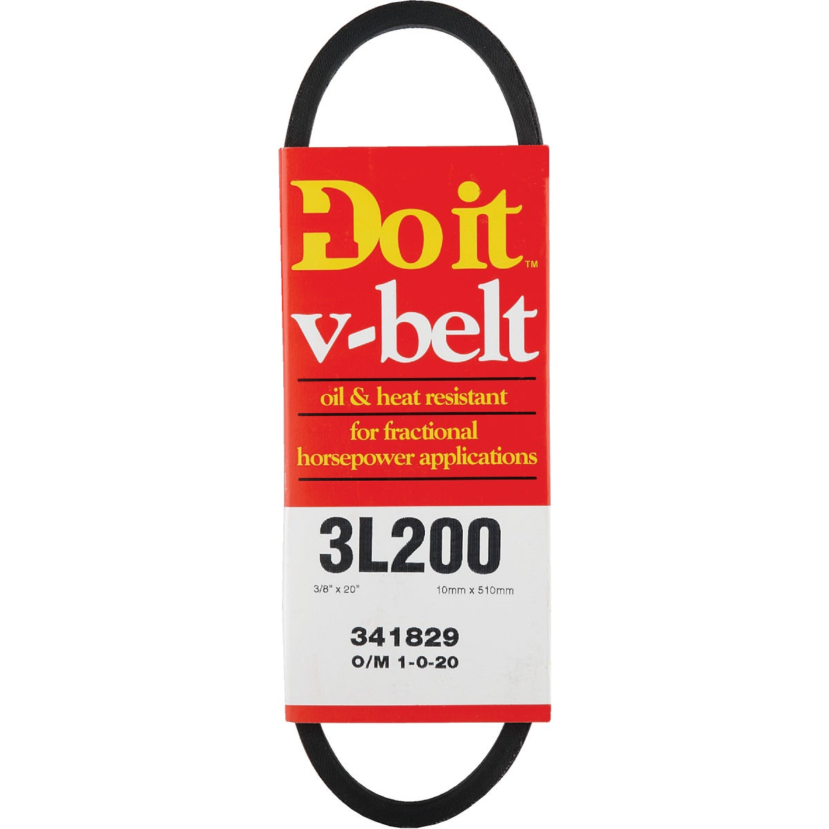 20X3/8 A PULLEY V-BELT - 3L200 by Gates Rubber Pvt Lbl