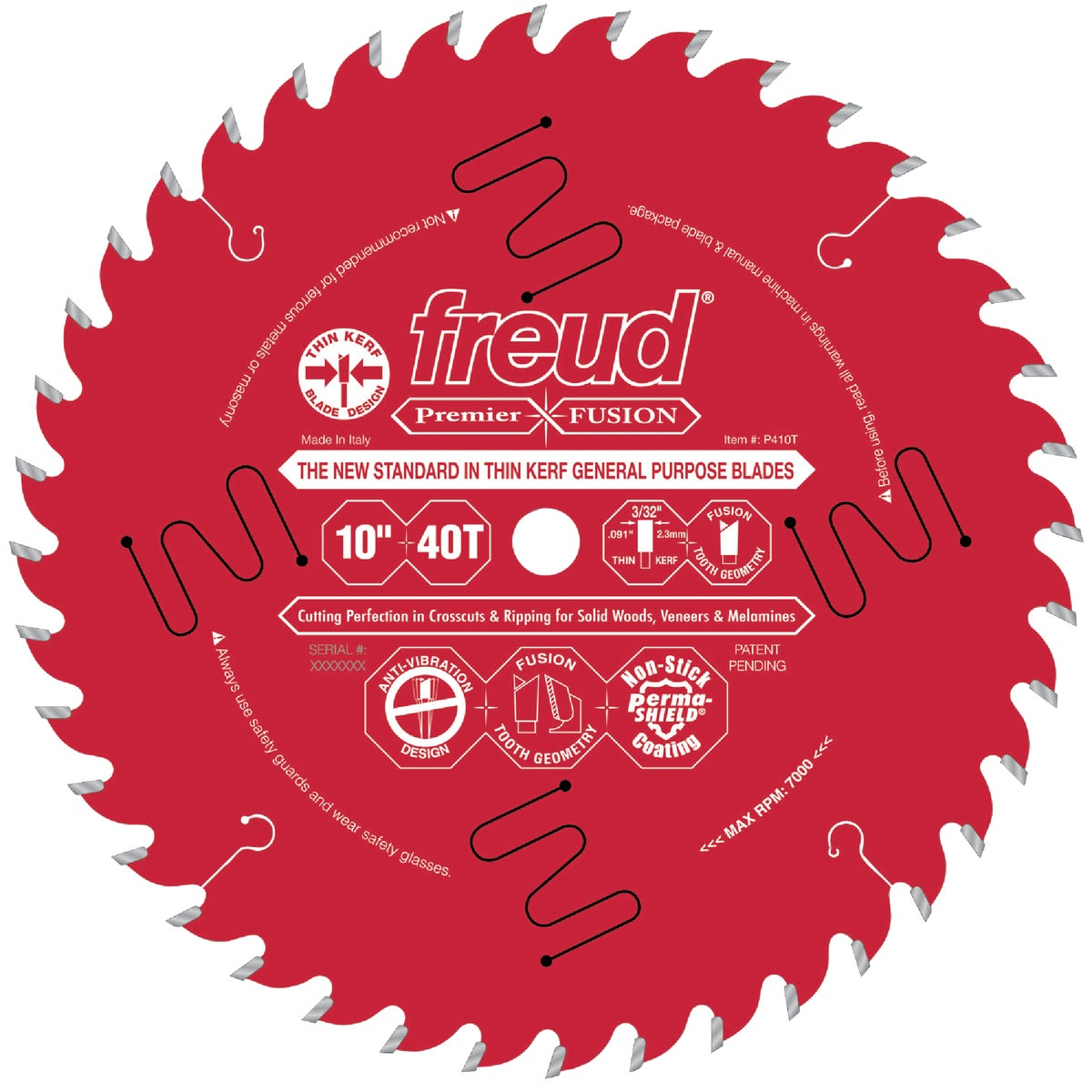 "10""X40T FUSION BLADE - P410T by Freud Inc"