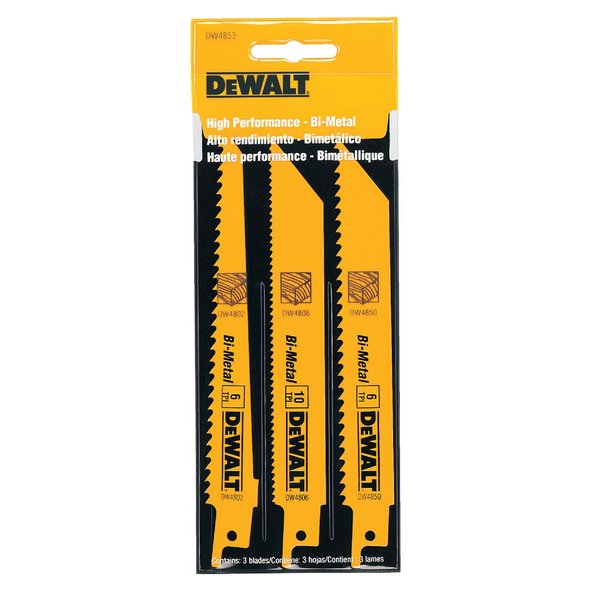 3PC RECIP BLADE SET - DW4853 by DeWalt