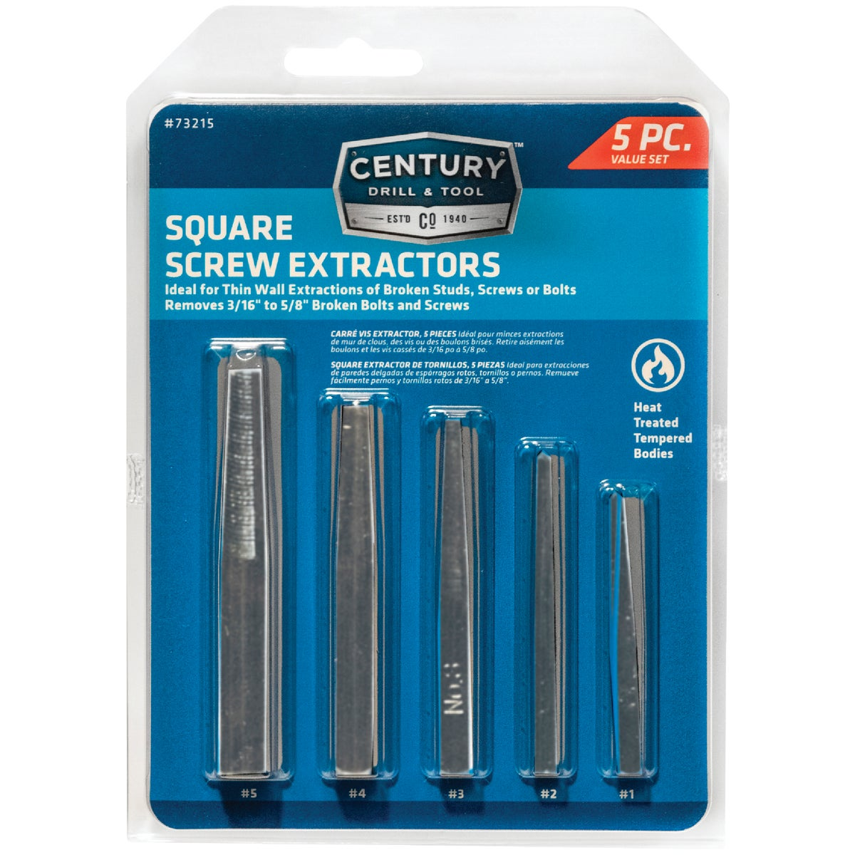 5PC SCREW EXTRACTOR