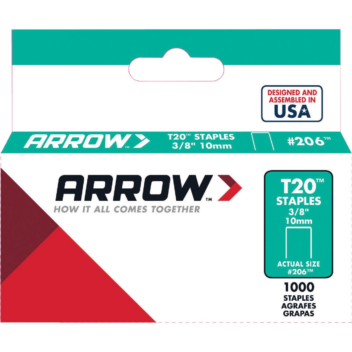 "3/8"" STAPLE - 206 by Arrow Fastener Co"