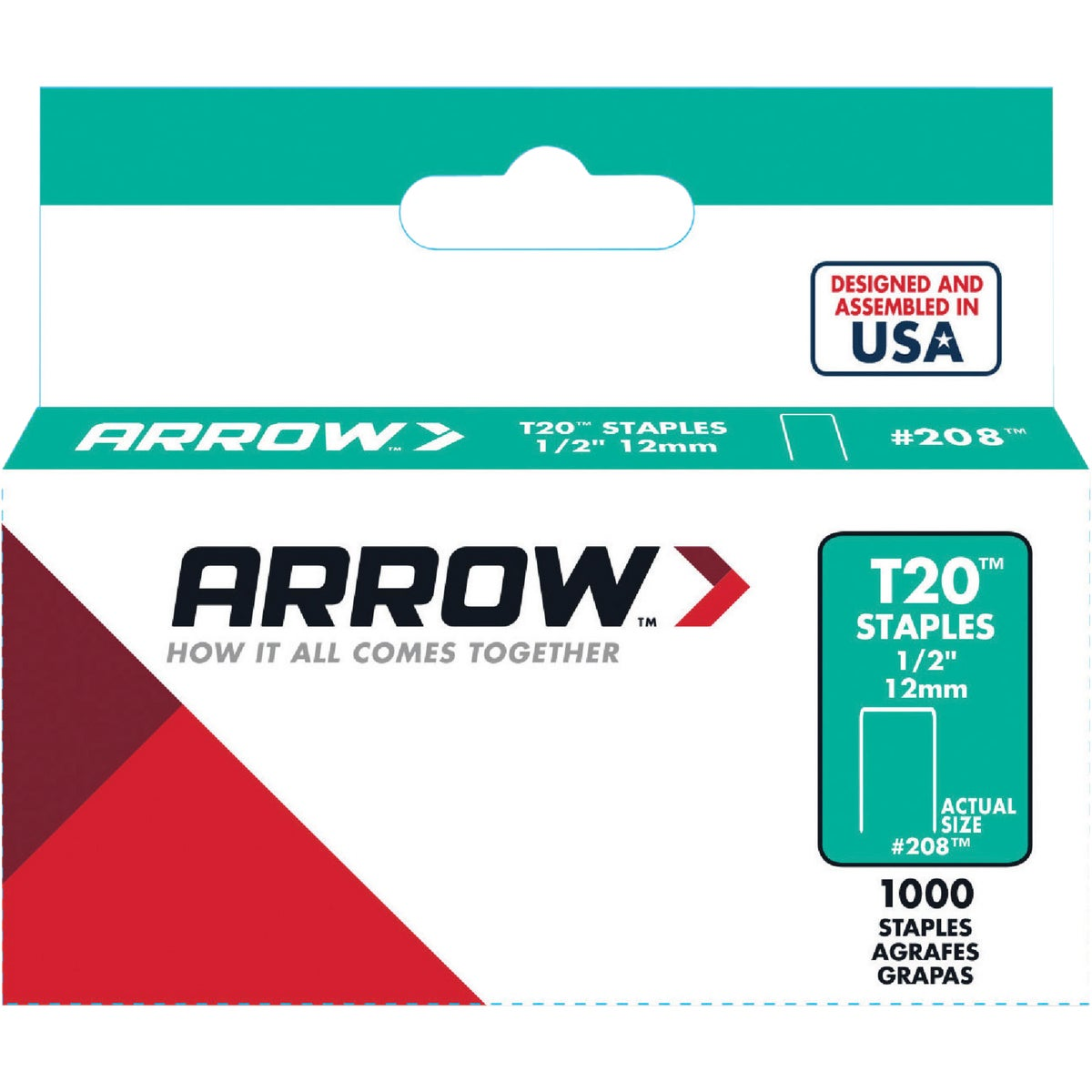 "1/2"" STAPLE - 208 by Arrow Fastener Co"