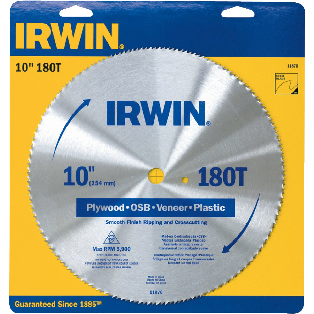"10"" PLYWOOD BLADE - 11870 by Irwin Industr Tool"