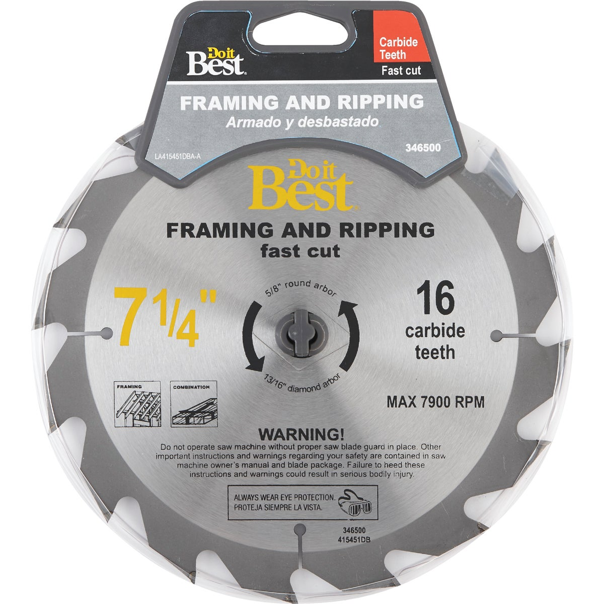 7-1/4 16T CARB SAW BLADE