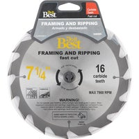 Mibro/GS 7-1/4 16T CARB SAW BLADE 415451DB