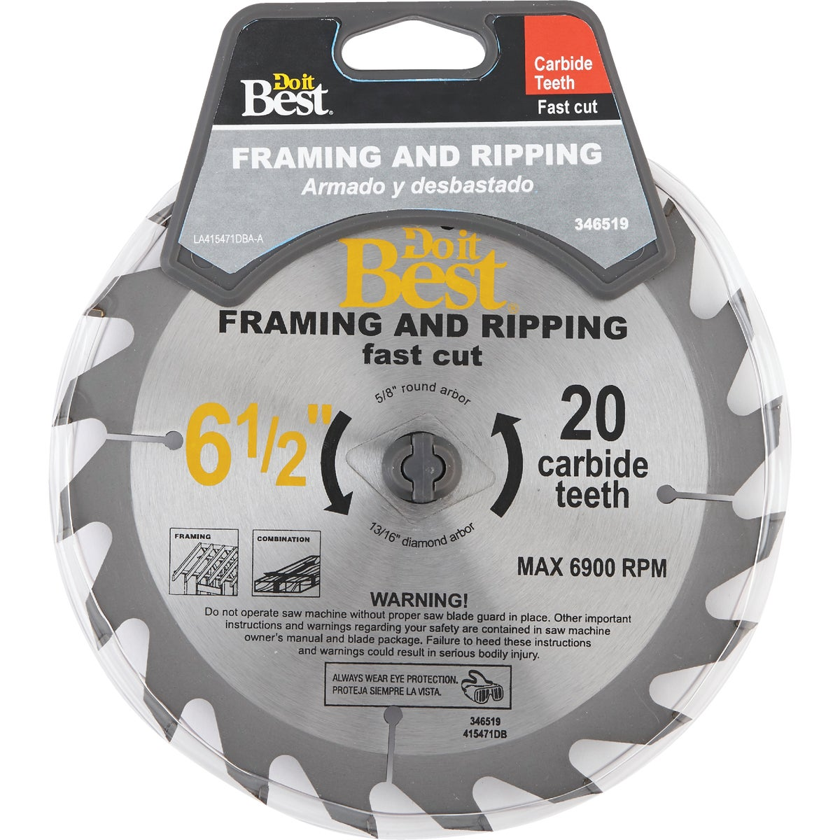 6-1/2 20T CARB SAW BLADE