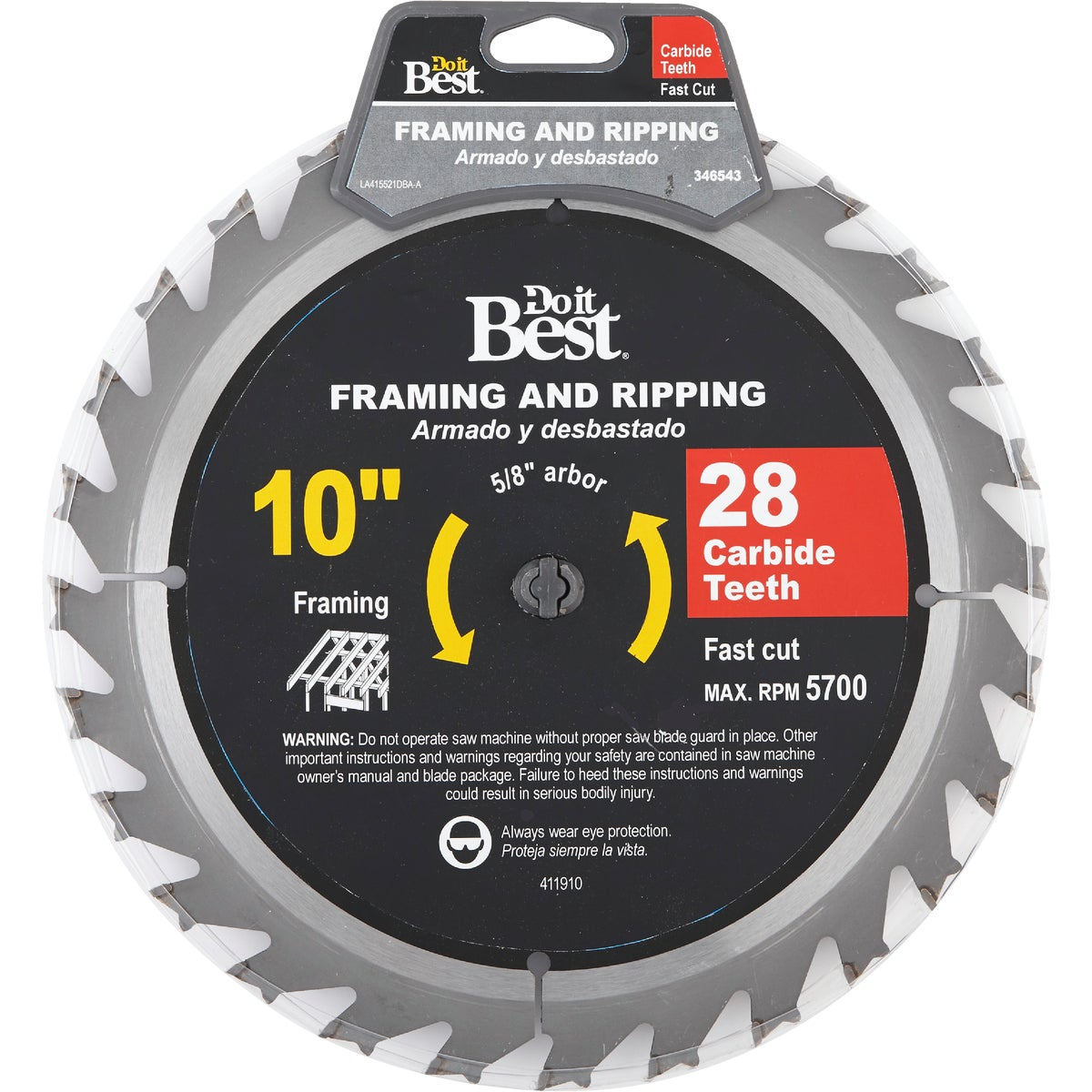 "10"" 28TPI CARB SAW BLADE - 415521DB by Mibro/gs"
