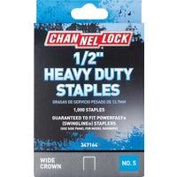 Channellock No. 5 Heavy-Duty Wide Crown Staple, 347164