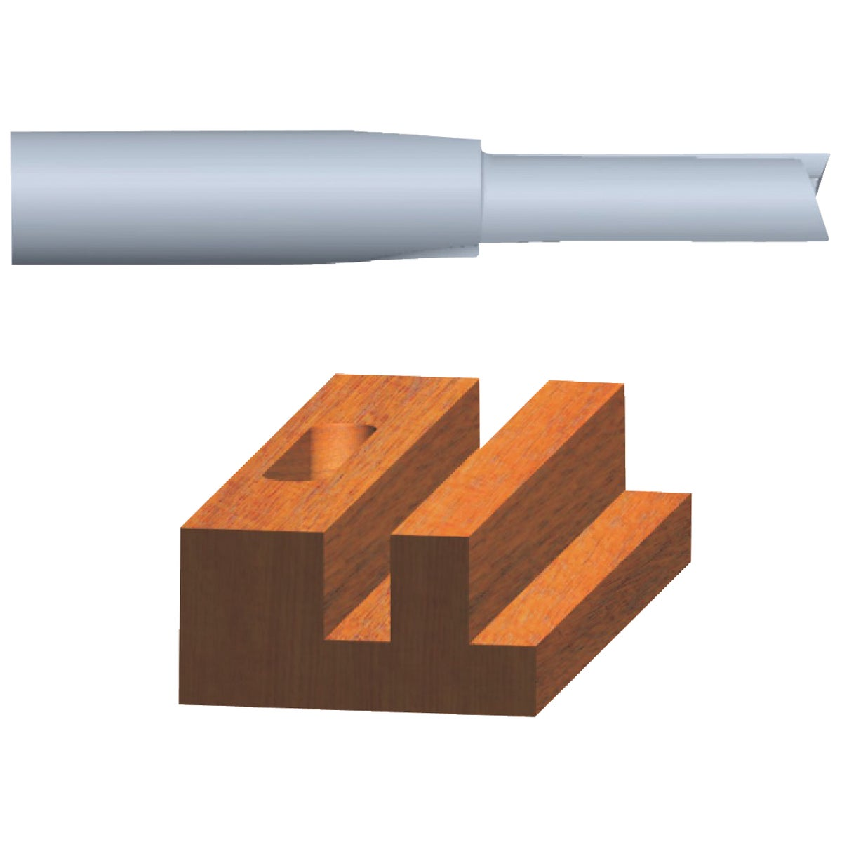 "1/4"" STRAIGHT ROUTER BIT - 23102 by Vermont American"