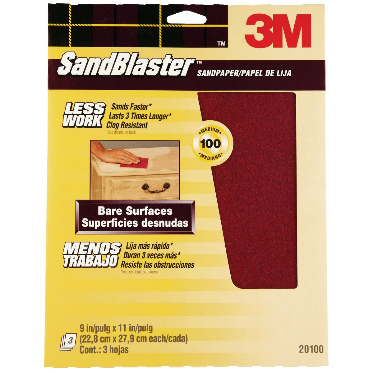 100G SANDPAPER - 20100-G by 3m Co