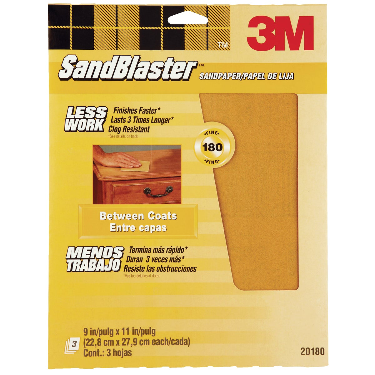 180G SANDPAPER - 20180-G by 3m Co